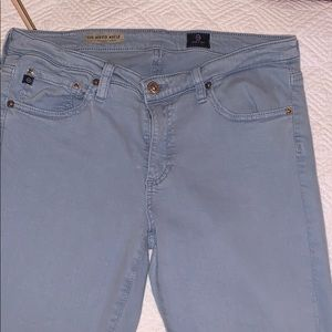 AG Stevie ankle light blue jeans